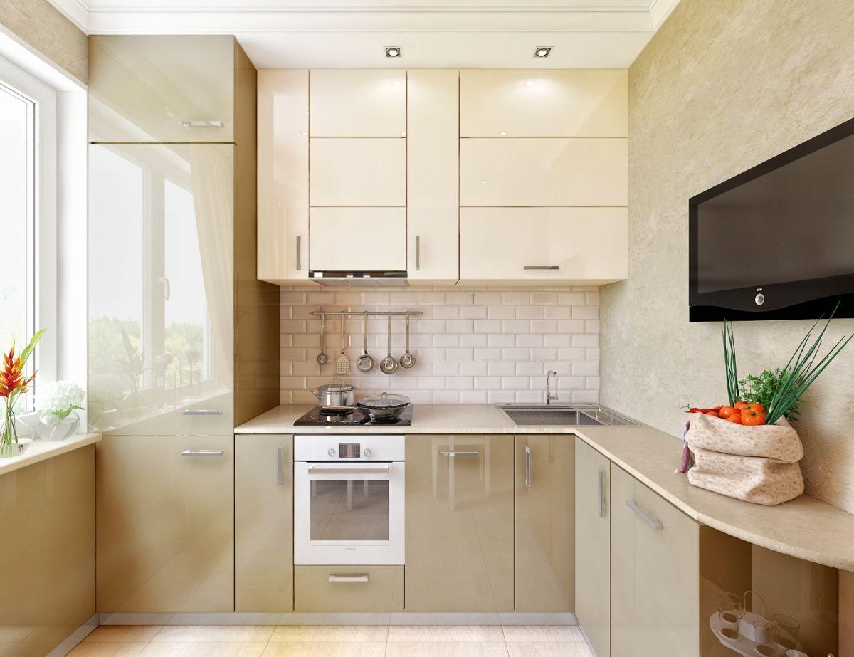 Маленькая кухня 2 квм дизайн с холодильником