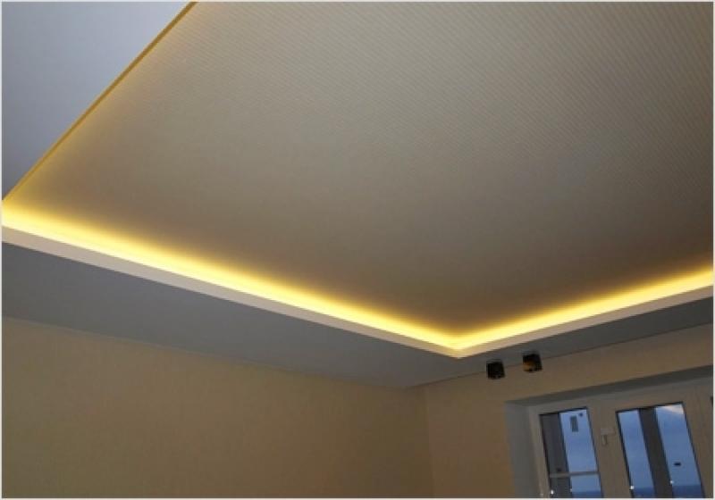 Светодиодная лента натяжной потолок своими руками