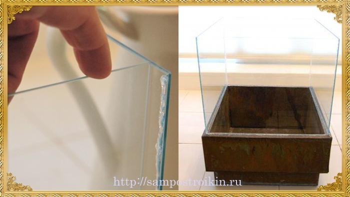 Скрепляем стекла для камина