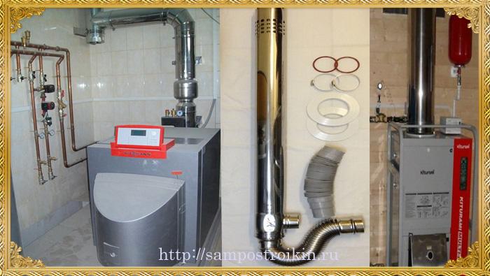 Отвод газов в дизельном котле