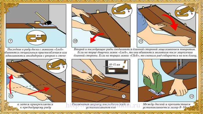 Как класть ламинат своими руками на деревянный 746