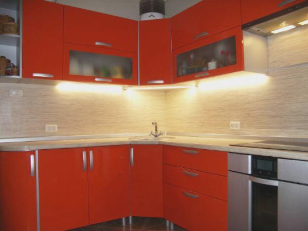 Подсветка кухонной мебели светодиодной лентой