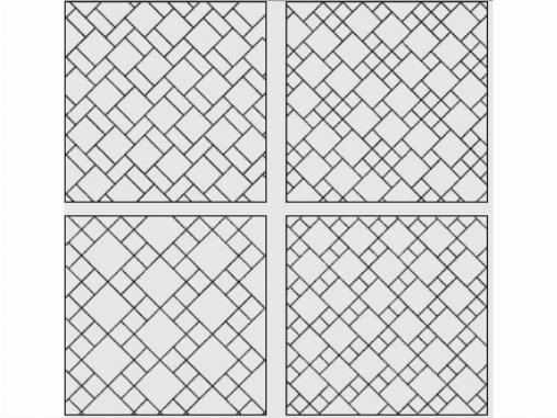 Варианты диагональной укладки плитки
