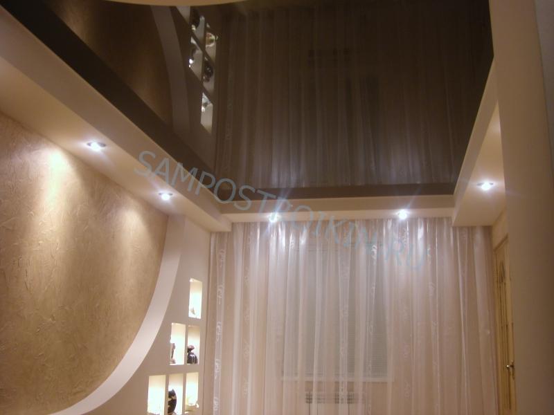Дизайн потолка в гостиной 2