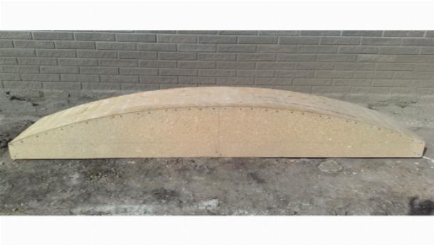 Деревянный шаблон для сооружения кирпичной арки