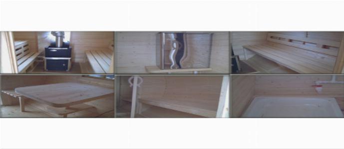 Элементы внутреннего обустройства бани-бочки