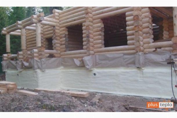 Как утеплить фундамент деревянного дома пенополиуретаном