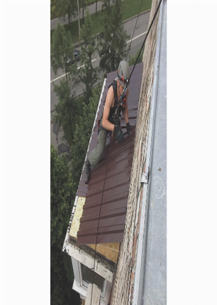 Капитальный ремонт кровли балкона профлистом