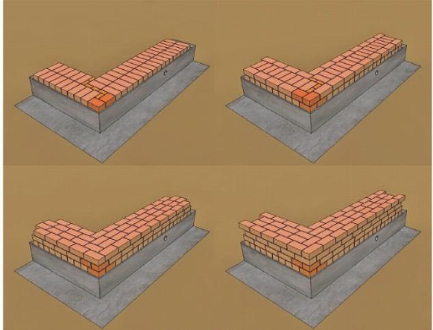 Примеры кладки из клинкерного кирпича