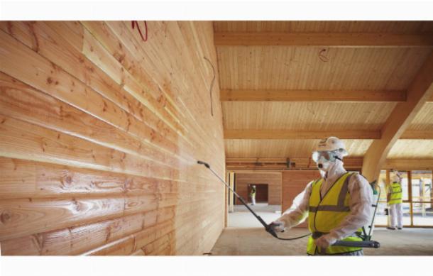 Противопожарная обработка стен нужна от возгорания пенопласта