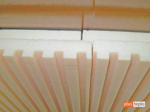 Теплоизоляционные полистирольные плиты с фрезерованными канавками