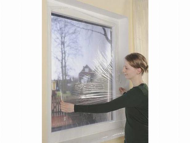 Утепление окна с помощью пленки