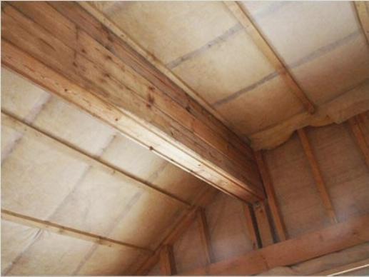 Утепленный потолок в подвале гаража