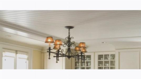 Освещение комнаты с реечным потолком