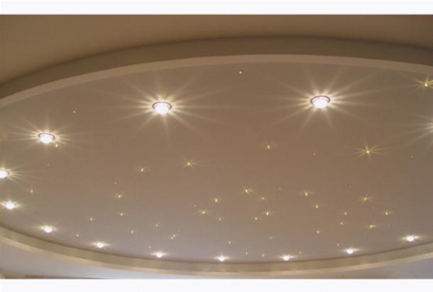 Применение точечных светильников в подвесном потолке