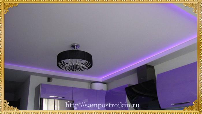 Матовый тип натяжного потолка в интерьере1