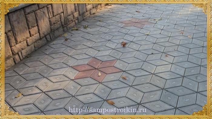 trotuarnaja plitka romb