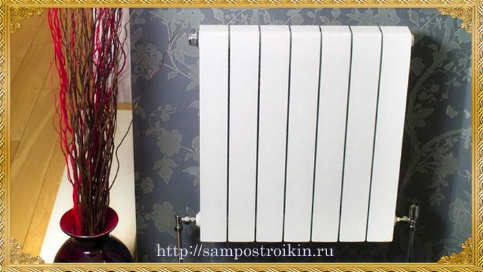 Объем, масса и давление биметаллических радиаторов