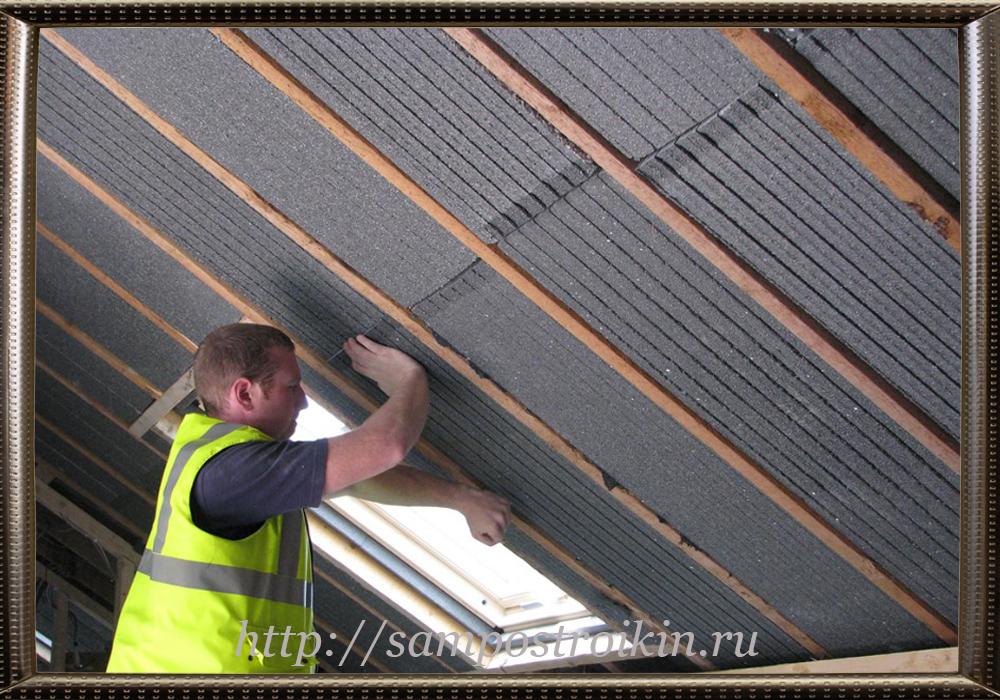 Пеностекло для утепления потолка в частном доме