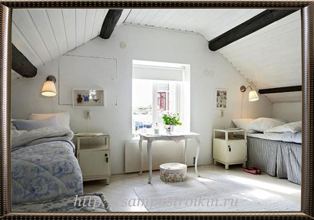 Утепление потолка со стороны помещения в стиле Прованс