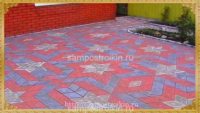 Тротуарная плитка ромб варианты укладки фото из двух цветов